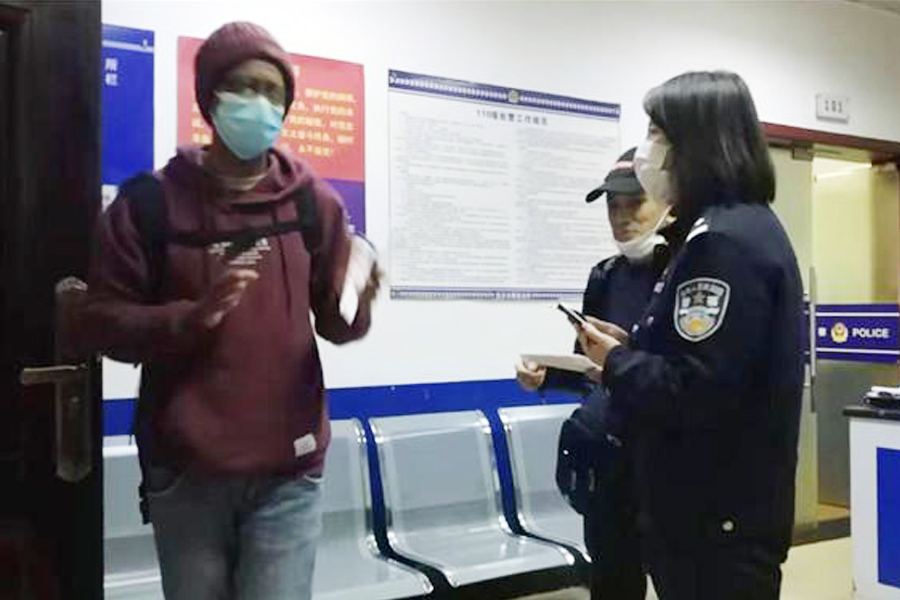 Love Without border! African students entered the police station saying